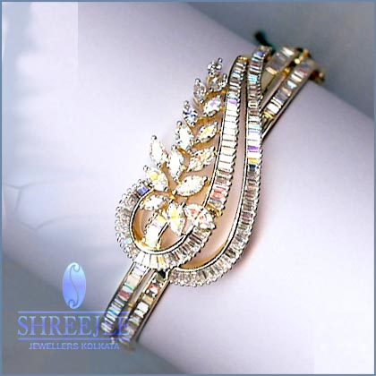 bangles row gold genuine bangle diamond white toni bracelet ct itm loading s is mens image