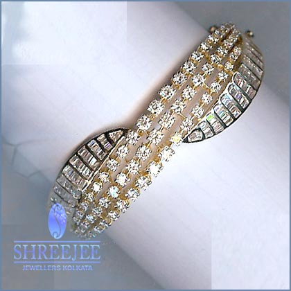 bracelet riddle bangle yellow in diamond s category bangles gold shop bracelets kt jewelry and